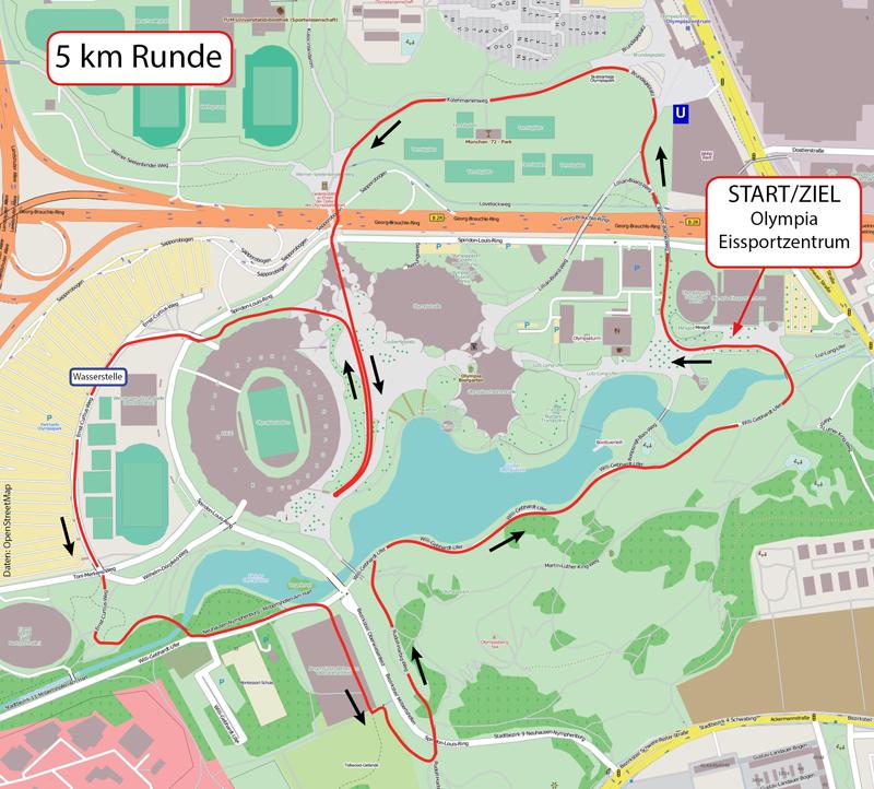 Strecke Bavarian RUN 2017